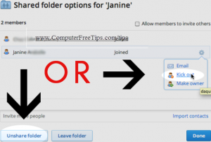 Shared Folder Option